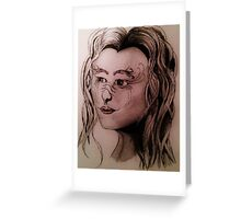 A Portrait of a Siren  Greeting Card