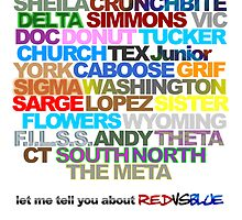 Red Vs. Blue Typography by TylerMannArt