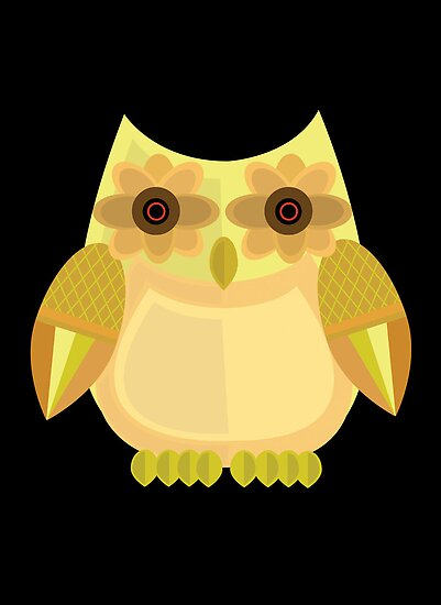 Harvest Owl - Yellow 2 by Adamzworld