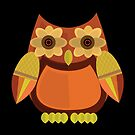 Harvest Owl - Red Orange 2 by Adamzworld