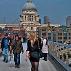 On Millennium Bridge by AJM Photography