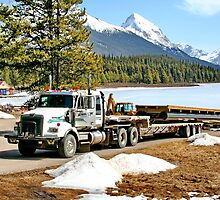 Unloading on Maligne Lake by AnnDixon