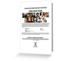 Wanted: The Doctor Greeting Card