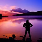 Sunset at Mountain Lake by printscapes