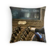 Antique Cash Register Throw Pillow