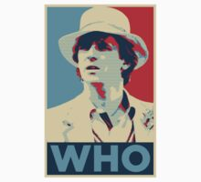 Doctor Who Peter Davison Barack Obama Hope style poster by unloveablesteve