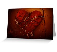 Love and Hate - Heart and Thorns Greeting Card