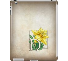 D is for Daffodil iPad Case/Skin