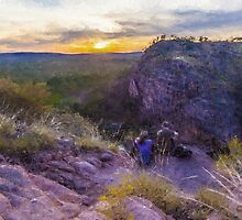 Sunset at Katherine Gorge by Stephen Swayne