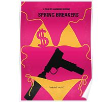 No218 My SPRING BREAKERS minimal movie poster Poster