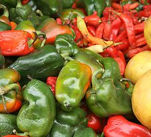 Peppers At The Otavalo Market by rhamm
