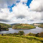 Photographer at Llyn Brianne Reservoir, Mid Wales by Heidi Stewart