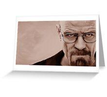 'The Danger' Handpainted Heisenberg Portrait (Sepia) Greeting Card