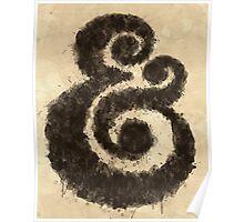 Ink Ampersand Poster