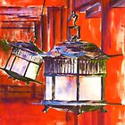 Japanese Lanterns by Szilvia Ponyiczki