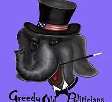 GOP -  Greedy Old Politicians  by david michael  schmidt