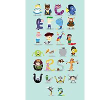 Animated characters abc Photographic Print