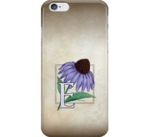 E is for Echinacea - full image iPhone Case/Skin