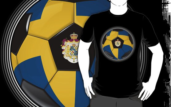 Sweden - Swedish Flag - Football or Soccer by graphix