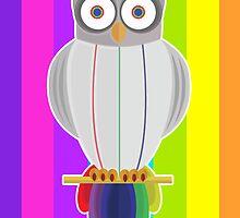 Rainbow Owl (Rainbow) by Adamzworld
