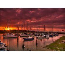 River Yar Sunset Photographic Print