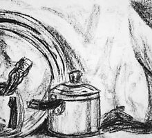 Still life in charcoal by CarlaHarvie