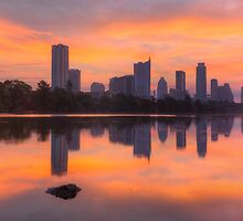Austin Skyline Images - An Austin Panorama from Lou Neff Point by RobGreebonPhoto