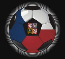 Czech Republic - Czech Flag - Football or Soccer by graphix