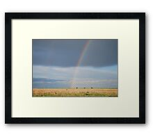 Double Rainbow on Kansas Prairie Framed Print