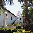 Mission San Diego Courtyard by Gordon  Beck