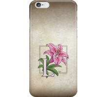 L is for Lily - full image shirt iPhone Case/Skin