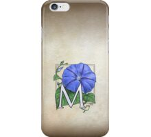 M is for Morning Glory iPhone Case/Skin