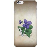 V is for Violet iPhone Case/Skin