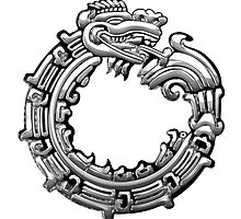 Aztec Serpent Quetzalcoatl 3d [Silver]   by Captain7