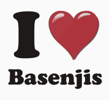 I Heart Basenjis by HighDesign