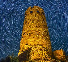 Desert View Watchtower Startrail by SeanParkerPhoto