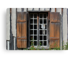 Brown Window Closeup Canvas Print