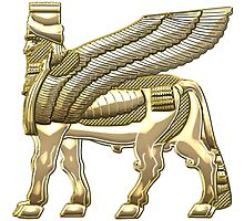 Babylonian Winged Bull Lamassu [Gold] by Captain7