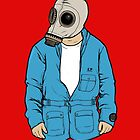 Gas mask 2 postcard by carterscasuals