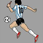 Maradona postcard by carterscasuals