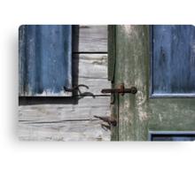 Window and Door Hardware Blue Canvas Print