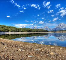 Teton Range Reflection by activebeck2012