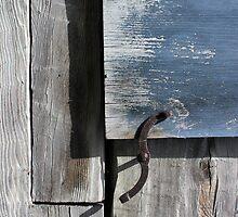 Window Hardware Blue by marybedy