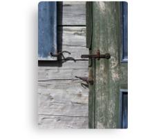 Window Hardware 3 Blue Canvas Print