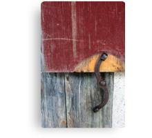 Window Latch Red Window 2 Canvas Print