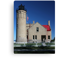 Old Mackinac Lighthouse Point Side View Canvas Print