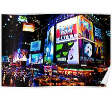 Times Square Broadway Poster