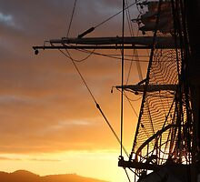 Tall Ships - Hobart - beautiful dawn light by gaylene