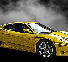 Ferrari 360 Modena in Yellow side view by Samuel Sheats