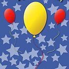 Balloons Birthday Card by Jacqueline Turton